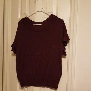 Women's Elle Ruffled Short sleeve sweater